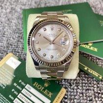 Rolex Plata Automático Plata Sin cifras 41mm usados Datejust II