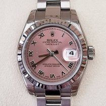 Rolex Lady-Datejust Белое золото 26mm Розовый Римские