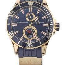 Ulysse Nardin Rose gold Automatic Blue 44mm pre-owned Diver Chronometer