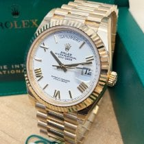 Rolex Day-Date 40 Yellow gold 40mm Silver Roman numerals