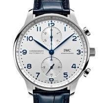 IWC Portuguese Chronograph Acero 41mm Plata Arábigos España
