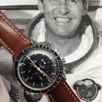 Omega Speedmaster Professional Moonwatch použité Černá Chronograf Tachymetr Kůže