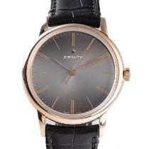 Zenith Red gold Automatic Grey 39mm pre-owned Elite