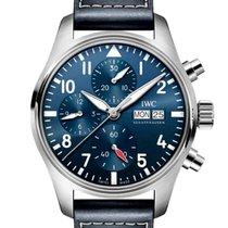 IWC Pilot Chronograph Acero 41mm Azul Arábigos España