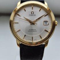 Omega De Ville Prestige Gelbgold 35mm Silber Keine Ziffern Deutschland, Engelskirchen