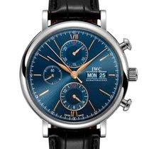 IWC Portofino Chronograph Сталь 42mm Синий Без цифр