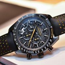 Omega Углерод Механические Черный Без цифр 44.25mm новые Speedmaster Professional Moonwatch