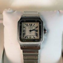 Cartier Santos Galbée Сталь 29mm Белый Римские