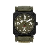 Bell & Ross Ceramic Automatic Green 42mm pre-owned BR 03-92 Ceramic