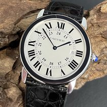 Cartier Ronde Croisière de Cartier pre-owned 36mm Silver Date Leather