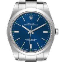 Rolex Oyster Perpetual 39 Otel 39mm Albastru