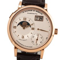 A. Lange & Söhne Rose gold Manual winding Silver Roman numerals 41mm pre-owned Grand Lange 1