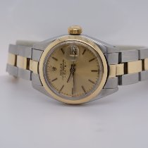 Rolex Oyster Perpetual Lady Date Ατσάλι 26mm Ασημί Xωρίς ψηφία