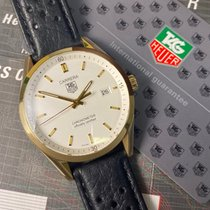 TAG Heuer Yellow gold Automatic White pre-owned Carrera