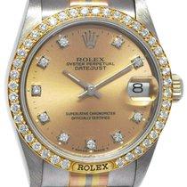 Rolex White gold 31mm Champagne