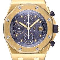 Audemars Piguet Желтое золото Автоподзавод Синий 42mm подержанные Royal Oak Offshore Chronograph