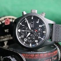 IWC Pilot Chronograph Top Gun Ceramic 44.5mm Black No numerals
