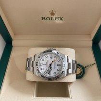 Rolex Explorer II Acciaio 42mm Bianco Senza numeri