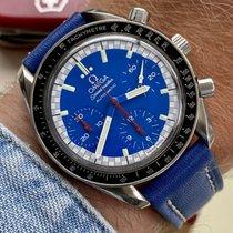 Omega Speedmaster Reduced Stahl Blau