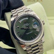 Rolex Day-Date 40 Oro bianco 40mm Verde Romani Italia, Napoli