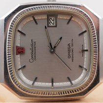 Omega Constellation pre-owned 38mm Silver Date Leather