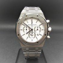 Audemars Piguet Royal Oak Chronograph Staal 41mm Zilver Geen cijfers