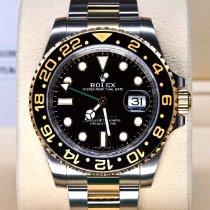 勞力士 GMT-Master II 金/鋼 40mm 黑色 無數字