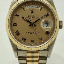 Rolex Day-Date 36 White gold 36mm Gold Roman numerals