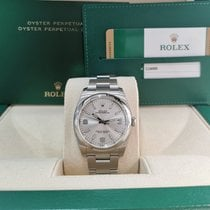 Rolex Oyster Perpetual 36 usados 36mm Plata Acero