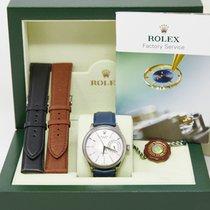 Rolex Cellini Date Or blanc 39mm Argent Sans chiffres
