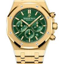 Audemars Piguet Yellow gold Automatic Green new Royal Oak Chronograph
