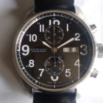 Hamilton Khaki Field Officer pre-owned 44mm Chronograph Date Rubber