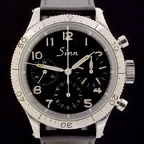 Sinn UX pre-owned 38.5mm Black Chronograph Leather