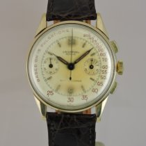 Universal Genève Compax Yellow gold 37mm White