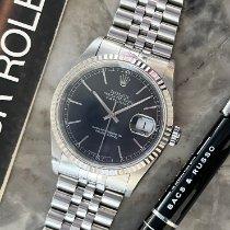 Rolex Datejust tweedehands 36mm Zwart Datum Staal