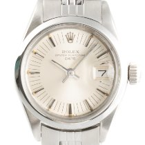Rolex Oyster Perpetual Lady Date Ατσάλι 26mm Ασημί