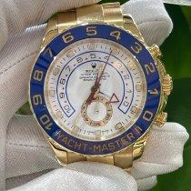 勞力士 Yacht-Master II 黃金 44mm 白色 無數字 香港