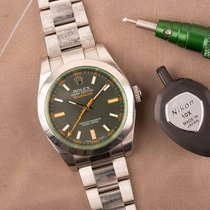 Rolex 116400GV Steel 2009 Milgauss 40mm pre-owned Australia