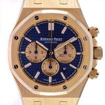 Audemars Piguet Royal Oak Chronograph Aur roz 41mm Albastru Fara cifre
