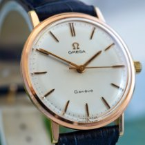 Omega Genève Rose gold 34mm White No numerals