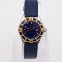 Breitling Lady J Gold/Steel 31mm Blue No numerals