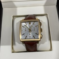 TAG Heuer Yellow gold Automatic Silver pre-owned Monaco
