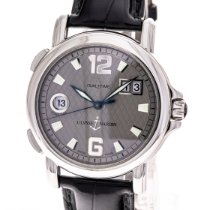 Ulysse Nardin San Marco Big Date pre-owned 40mm Grey Date GMT Leather