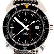 Eterna Super Kontiki Limited Edition 1973 Acero 44mm Negro Sin cifras