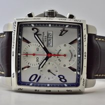 Certina DS Podium Square pre-owned 39mm Silver Chronograph Leather