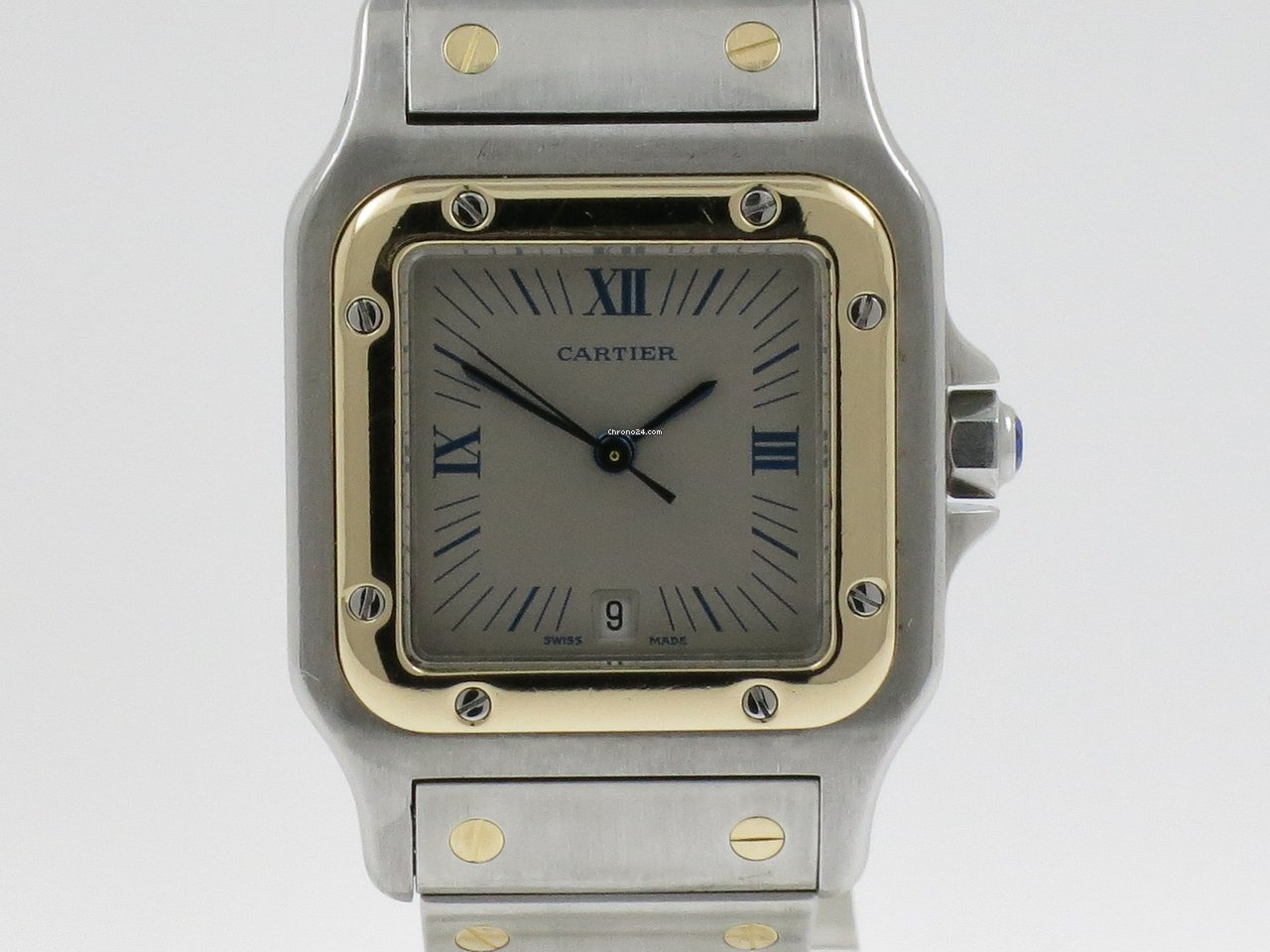 Cartier Santos Galbée 187901 1990 tweedehands