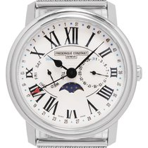 Frederique Constant Classics Business Timer Steel 39,5mm White