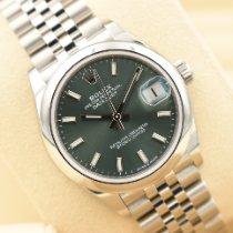 Rolex Lady-Datejust Steel 31mm Green Roman numerals