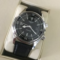 Longines Legend Diver pre-owned 42mm Black Date Leather