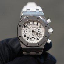 Audemars Piguet Royal Oak Offshore Lady pre-owned 37mm White Chronograph Date Rubber